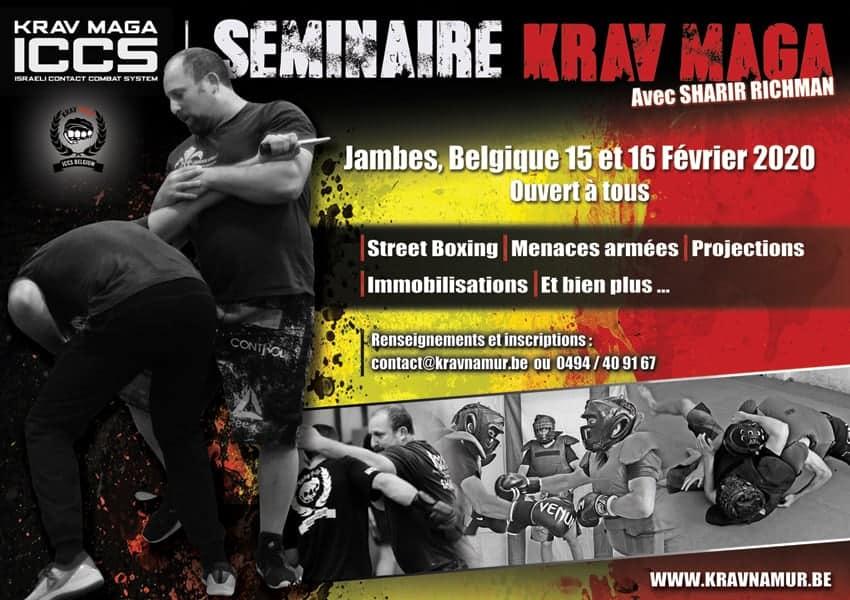 Affiche stage KM fev2020 1 - Stage Krav Maga ICCS - Namur- Février 2020